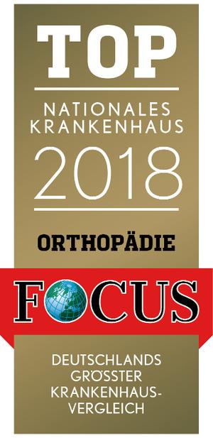 FOCUS Top Nationales Krankenhaus 2018 Orthopädie