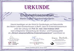 Zertifiziertes Endometriosezentrum