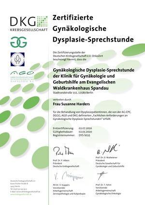 Zertifizierte Gynäkologische Dysplasie-Sprechstunde