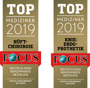 FOCUS Top Mediziner 2019 Hüftchirurgie und Kniechirurgie