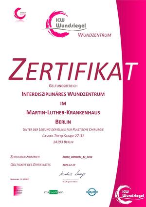 Zertifiziertes interdisziplinäres Wundzentrum