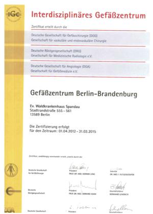 Zertifiziertes interdisziplinäres Gefäßzentrum