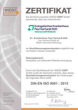 Zertifizierung nach DIN EN ISO
