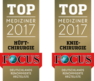 FOCUS Top Mediziner 2017 Hüftchirurgie und Kniechirurgie