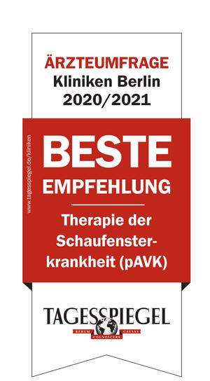 TAGESSPIEGEL-Ärztebefragung: Beste Empfehlung 2020/2021