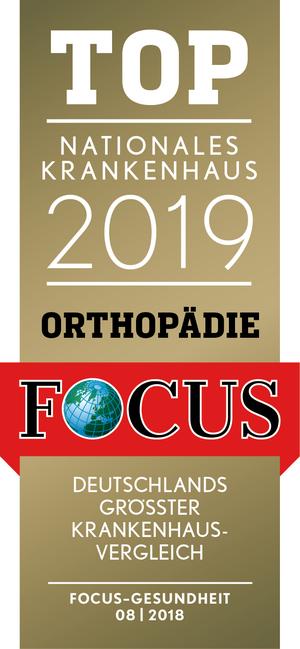 Focus Top Nationales Krankenhaus 2019: Klinik für Orthopädie und Unfallchirurgie
