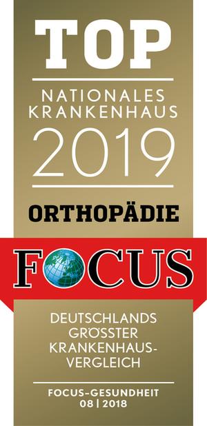 FOCUS Top Nationales Krankenhaus 2019 Orthopädie
