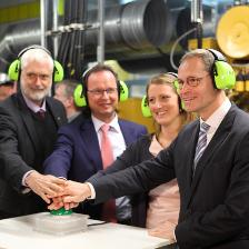 Der Regierende Bürgermeister Michael Müller besuchte am 29. April 2016 das Martin-Luther-Krankenhaus und eröffnete das neue, energieeffiziente Blockheizkraftwerk.