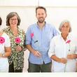 """Das Team des Martin Luther Krankenhauses und des Evangelischen Waldkrankenhauses an der gemeinsamen Infopagode beim Aktionstag """"Ich bin dabei!"""""""