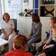 Fragestunde beim Wandertag im Evangelischen Krankenhaus Hubertus