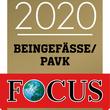 Dr. med. Clemens Fahrig ist ausgezeichnet für die Therapie von PAVK und Erkrankungen der Beingefäße.