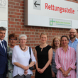 Zu Besuch im Martin-Luther-Krankenhaus (von links nach rechts): Bezirksstadtrat Carsten Engelmann, Gabriele Jahn (Euramedia), Patientenfürsprecherin des Martin-Luther-Krankenhauses Hannelore Rohde-Käsling, Geschäftsführerin Frederike Fürst, Dr. Irina