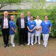 Krankenhausdirektorium mit Wieso-Cert-Auditoren nach Zertifizierung DIN EN ISO 9001:2015