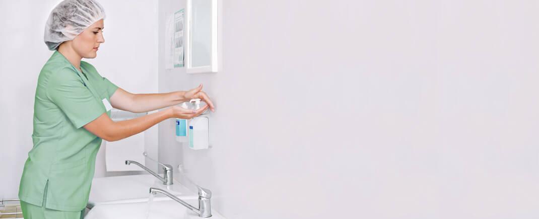 Unser Hygienemanagement vermindert das Risiko von Krankenhausinfektionen.